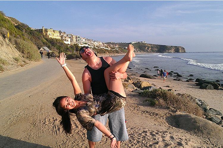 Shannon & David Beach Pose - David Rebosio Bio - Front end web developer & Graphic Designer