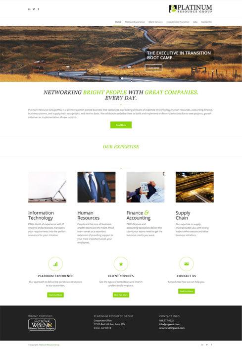 PRG_Home_Screenshot - Front end web dev